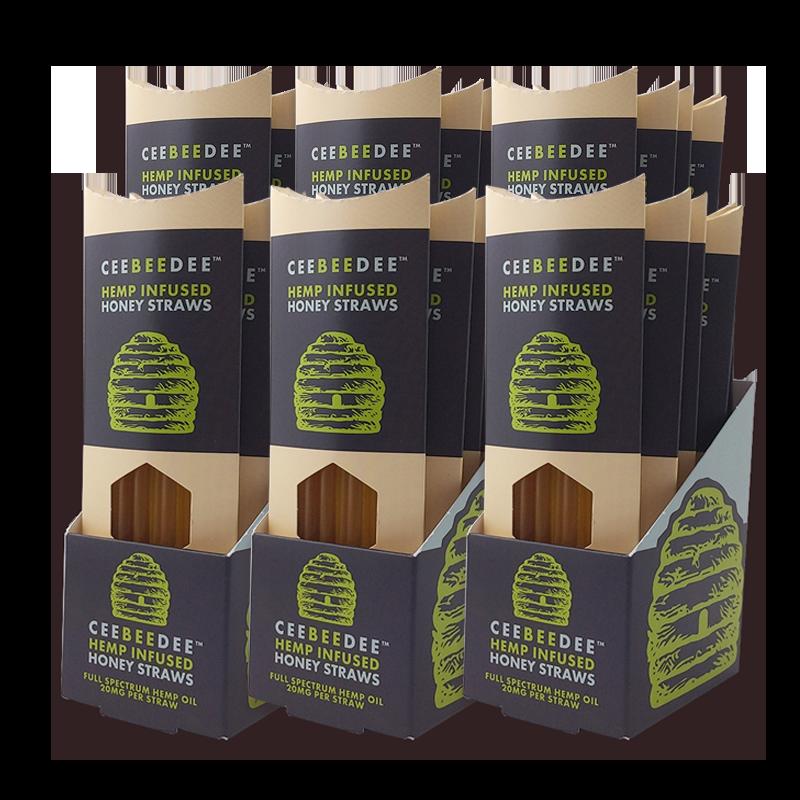 CeeBeeDee Hemp Honey Straw Retail Case (30 Straw Boxes) | Cee Bee Dee